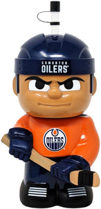 "Edmonton Oilers 10""x5"" NHL Character Big Sip 3D Water Bottle 16oz"