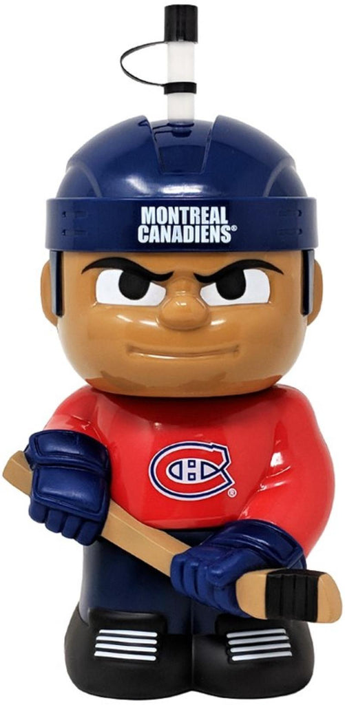 "Montreal Canadiens 10""x5"" NHL Character Big Sip 3D Water Bottle 16oz"