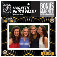 Boston Bruins 4x6 or 5x7 Magnetic Picture Frame with Bonus Magnet