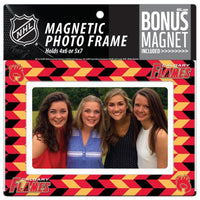 Calgary Flames 4x6 or 5x7 Magnetic Picture Frame with Bonus Magnet