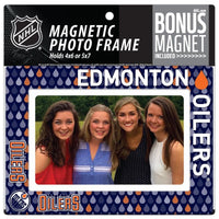 Edmonton Oilers 4x6 or 5x7 Magnetic Picture Frame with Bonus Magnet