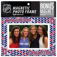 Montreal Canadiens 4x6 or 5x7 Magnetic Picture Frame with Bonus Magnet