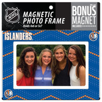 New York Islanders 4x6 or 5x7 Magnetic Picture Frame with Bonus Magnet