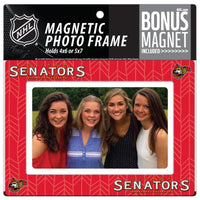 Ottawa Senators 4x6 or 5x7 Magnetic Picture Frame with Bonus Magnet
