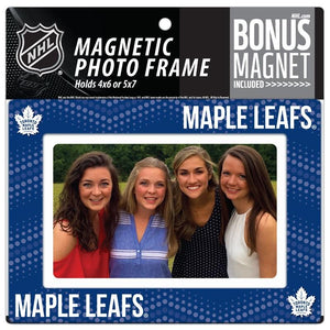 Toronto Maple Leafs 4x6 or 5x7 Magnetic Picture Frame with Bonus Magnet