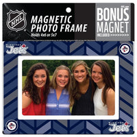 Winnipeg Jets 4x6 or 5x7 Magnetic Picture Frame with Bonus Magnet