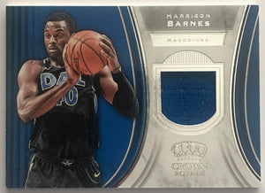 2018-19 Panini Crown Royale Jerseys Harrison Barnes Dallas Mavericks 07638