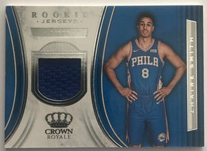 2018-19 Panini Crown Royale Rookie Jerseys Zhaire Smith 76ers 07640
