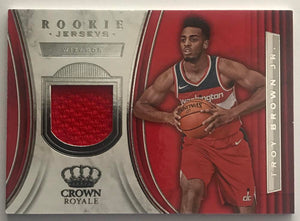 2018-19 Panini Crown Royale Rookie Jerseys Troy Brown Jr. Wizards 07641