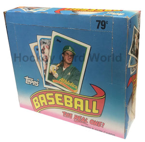 1989 Topps Cello Hobby Baseball Box Sealed - 24 Packs - 29 Cards/Pack