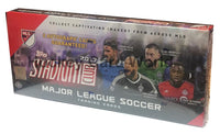 2017 Topps Stadium Club Hobby Soccer Box Factory Sealed - 16 Packs - 2 Autos