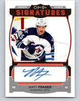 2015-16 UD O-Pee-Chee Update Signatures Matt Fraser RC Rookie Auto 07656
