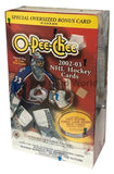 2002-03 OPC O-Pee-Chee Factory Sealed Hockey 9 Pack Box with Oversize Card