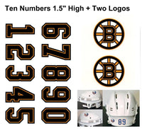 Boston Bruins NHL Hockey Helmet Decals Set + Two Logos