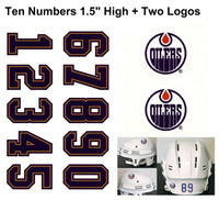 Edmonton Oilers NHL Hockey Helmet Decals Set + Two Logos