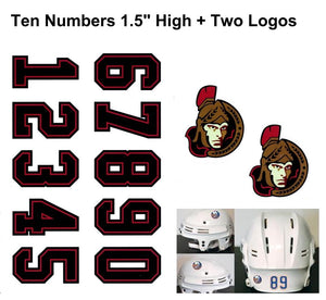 Ottawa Senators NHL Hockey Helmet Decals Set + Two Logos