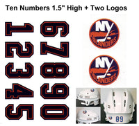New York Islanders NHL Hockey Helmet Decals Set + Two Logos