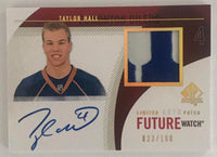 2010-11 Upper Deck SP Authentic Limited Auto Patches Taylor Hall 23/100 Rookie RC