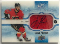 2015-16 Upper Deck Ice Signature Swatches Emile Poirier NHL Auto 07711