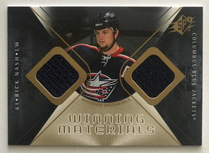 2007-08 Upper Deck SPx Winning Materials Rick Nash NHL MINT Jersey 07722