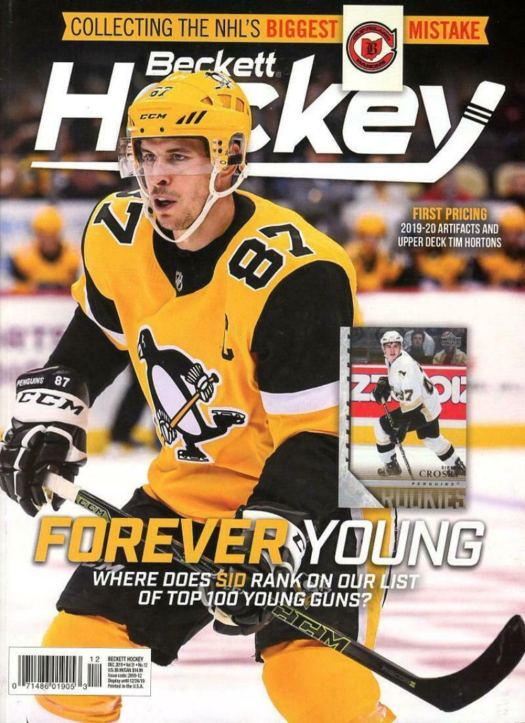 December 2019 Beckett Hockey Monthly Magazine - Sidney Crosby Cover