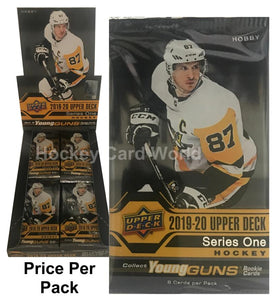 2019-20 Upper Deck Series 1 Hobby Pack - 8 Cards Per pack