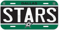 Dallas Stars Durable Plastic Wincraft License Plate NHL 6