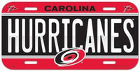 Carolina Hurricanes Durable Plastic Wincraft License Plate NHL 6