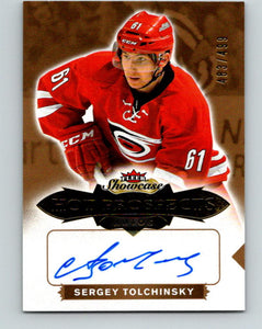 2016-17 UD Fleer Showcase Prospects Autos Sergey Tolchinsky RC Rookie 07736