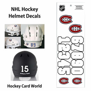 Montreal Canadiens (WHITE) NHL Hockey Helmet Decals Sticker Sheet