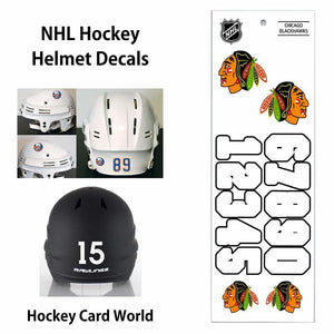 Chicago Blackhawks (WHITE) NHL Hockey Helmet Decals Sticker Sheet