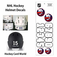 New York Islanders (WHITE) NHL Hockey Helmet Decals Sticker Sheet