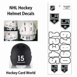 Los Angeles Kings (WHITE) NHL Hockey Helmet Decals Sticker Sheet