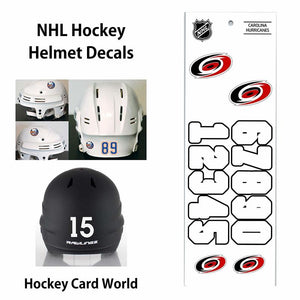 Carolina Hurricanes (WHITE) NHL Hockey Helmet Decals Sticker Sheet