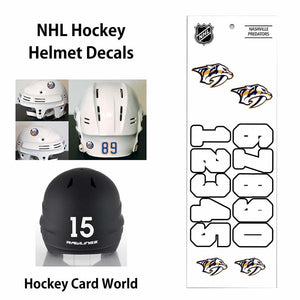 Nashville Predators (WHITE) NHL Hockey Helmet Decals Sticker Sheet