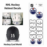 Edmonton Oilers (WHITE) NHL Hockey Helmet Decals Sticker Sheet