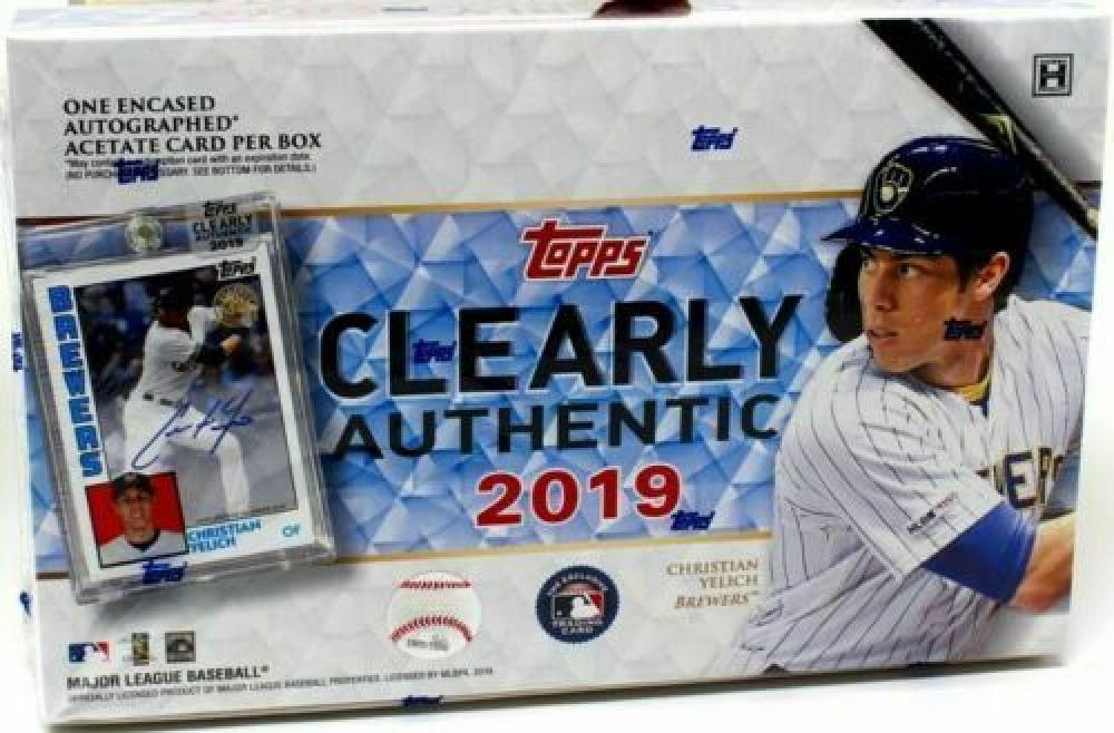 2018 Topps Clearly Authentic Baseball Factory Sealed Hobby Box