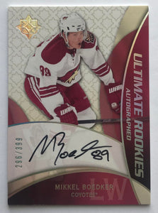 2008-09 Ultimate Collection Mikkel Boedker Rookie Auto 296/399 RC 07745