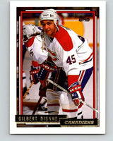 1992-93 Topps Gold #19G Gilbert Dionne Mint Montreal Canadiens