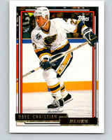 1992-93 Topps Gold #21G Dave Christian Mint St. Louis Blues