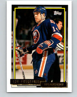 1992-93 Topps Gold #31G Tom Fitzgerald Mint New York Rangers