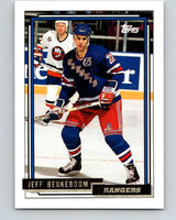 1992-93 Topps Gold #57G Jeff Beukeboom Mint New York Rangers