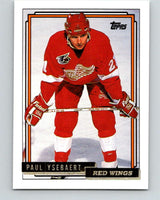 1992-93 Topps Gold #58G Paul Ysebaert Mint Detroit Red Wings