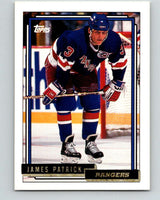1992-93 Topps Gold #71G James Patrick Mint New York Rangers