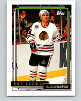 1992-93 Topps Gold #72G Rob Brown Mint Chicago Blackhawks