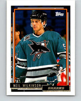 1992-93 Topps Gold #76G Neil Wilkinson Mint San Jose Sharks