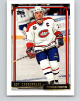 1992-93 Topps Gold #125G Guy Carbonneau Mint Montreal Canadiens
