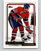 1992-93 Topps Gold #137G Benoit Brunet Mint Montreal Canadiens