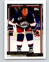 1992-93 Topps Gold #147G Randy Carlyle Mint Winnipeg Jets