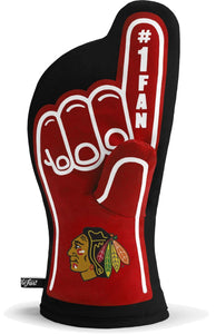 "Chicago Blackhawks 13""x7"" Oven Mitt - Machine Washable Heat Resistant"